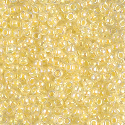 Light Yellow Lined Crystal AB: Miyuki Seed Bead 8/0