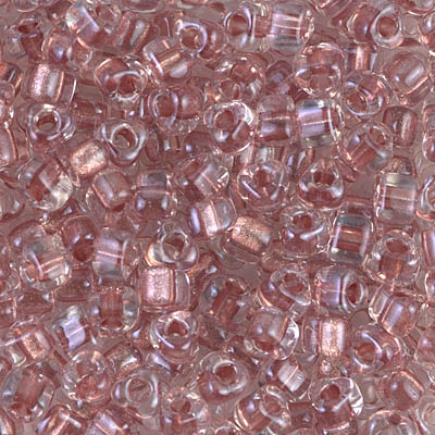 Sparkling Antique Rose Lined Crystal 5/0 Triangles -