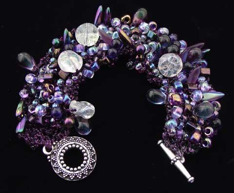 Bead Stew Bracelet Moonrise On Neptune Earthfaire