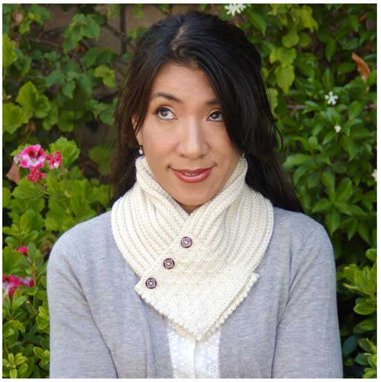 Knitting Pattern Quilted Lattice Ascot : Scarves and Cowls - Quilted Lattice Ascot/ Pattern by Pam ...