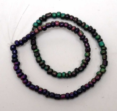 The 3mm mood beads, some warmer and some cooler.