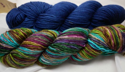Our Kit A:  one skein of 4012 plus one of indigo