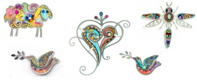 Handcrafted Pins:  Mini-Works-Of-Art