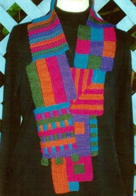 5Squared Scarf/ Pattern by Maureen Mason-Jamieson - Scarves and Cowls