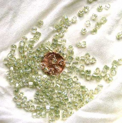 Sparkling Celery Lined Crystal AB: Miyuki 6/0 Seed Beads - Size 6/0