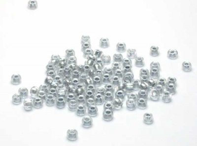 Sparkling Pewter Lined Crystal: Miyuki 8/0 Seed Bead - Size 8/0