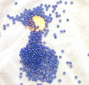 Sparkling Amethyst Lined Light Blue Miyuki 8/0 Seed Beads - Size 8/0