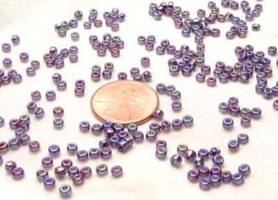 Silver Lined Amethyst AB: Miyuki 6/0 Seed Beads - Size 6/0
