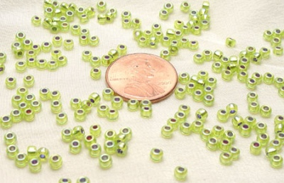 Silver Lined Chartreuse AB Miyuki 8/0 Seed Bead - Size 8/0