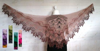 Alberta Beaded Shawl/ Kit with Unique Sheep Sets