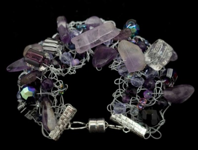 Birthstone Bracelet:  Amethysts of February - Jewelry Creations