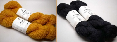 Andorra Yarns:   Ink Black and Sunshine Yellow