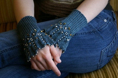 Aquitaine/ Beaded Mitts and Cuffs/ by Sivia/Pattern -