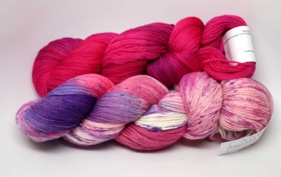 Wildflower skein plus Fuchsia skein.