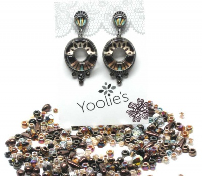 Bead Stew Bracelet + Autumn Glaze Earrings Option -