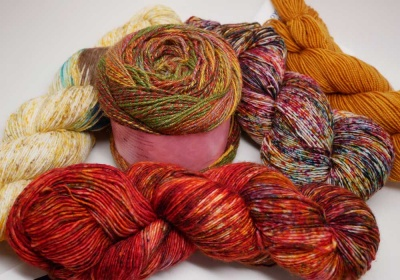 Examples of yarn you might find in an Autumn Set