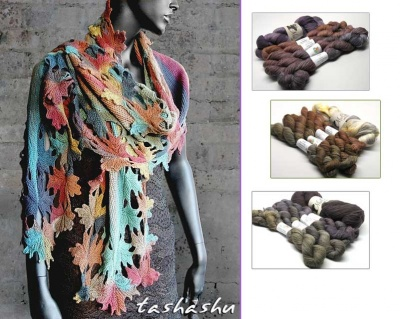 Knitted Shawl: Autumn Lace/ Kits Using TUS Sets
