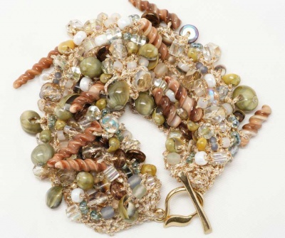 Beach Comber Bead Stew Bracelet - Jewelry Creations