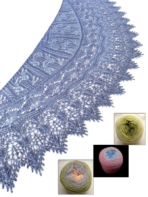 Birdsong Lace Shawl: Beaded Kits