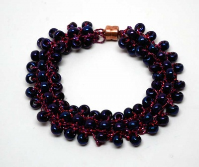 Black Raspberries/ Simple I-Cord Bracelet