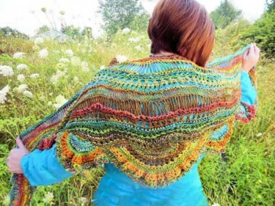Bloom/ Pattern by Jane Thornley - Shawls/Stoles