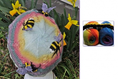 Bumble Bees in Flowers Beanie/ Kits