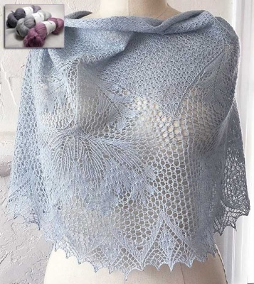 Carpinteria Shawl/ Kits with Bead Option