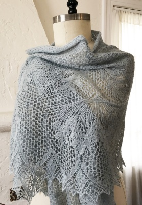 Here are some photos of Stephannie's original shawl, © Stephannie Tallent.