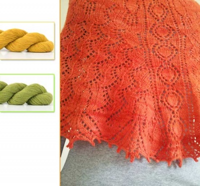 Carrot Cake Shawl/ Kits in Non-Carrot Colors/ + Recipe!