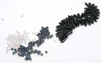 The beads for the kit in Black.