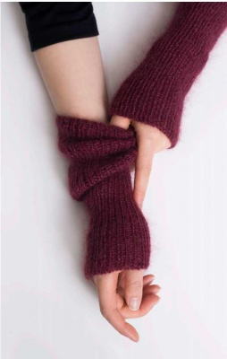 Coda/ Arm Warmers Kit/ Free Pattern with Cima + Silk Cloud
