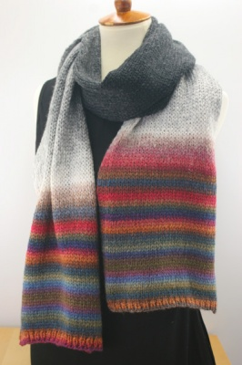 One possible scarf -- this is it knit in stockinette.