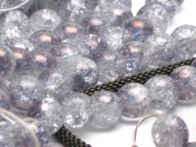Crackle Beads: Half-Glow Purple: 8mm - Various and Sundry