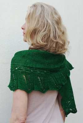 This, and each of the remaining photos on this page, shows Sivia's original shawl.