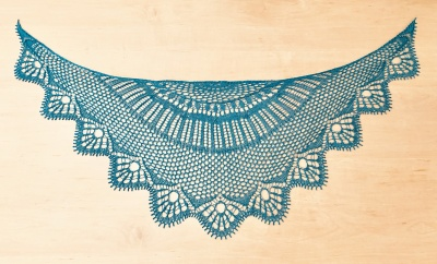 These are photos of Hayley's original shawls, shown so you can see the design well.