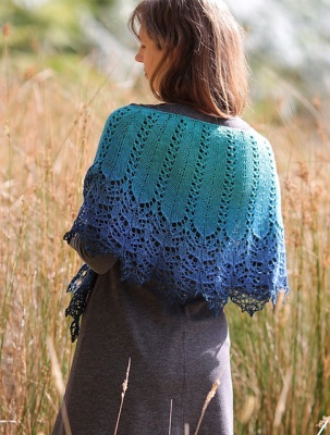 And this is one of Nim's first shawls in this design.