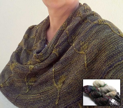 Despertares Shawl (or Cowl):  Kit of Tosh Merino Light + Glitter