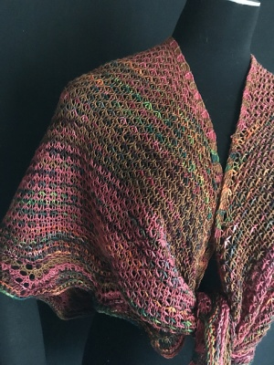 The rest of these photos show Jennifer's original shawl.  And most show close-ups of the stitches.