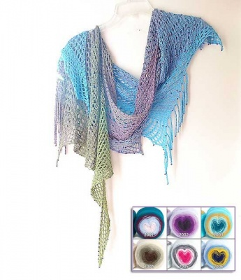 Early Morning Rain:  Beaded Kit in Concentric Cotton