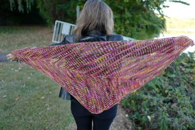 The EarthTones shawl by Iris.