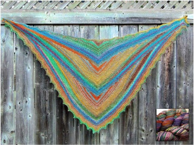 Chevron Shawl:  One Skein Project of Uneek Yarn (Free Pattern) - Kits