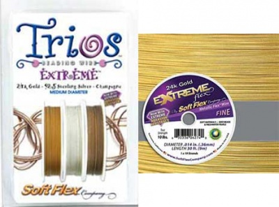 Extreme Flex/ Soft Flex Wire: 10 ft spools/ Choices - Threads and Wire