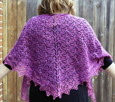 Five-Petal Flower Shawl: Kit + Bead Option