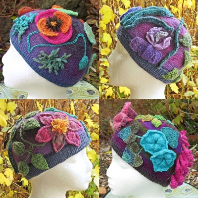 Flamboyant Flowers Beanie/ Kit