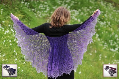 Foliata/ Beaded Shawl/ Kits with TUS Gradiance Sets