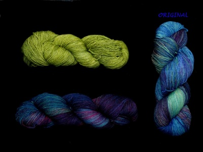 Fortaleza with Lettuce --- the original colorway, Indonesia, is to the right.