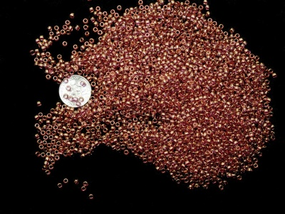 Gold Lustered Light Amethyst- Toho Seed Beads 8/0 - Size 8/0