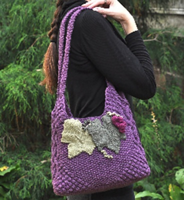 Grapevine Bag/ Pattern/ Celtic Botanical Knits - Whimseys