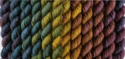 And the warmer Harvest Moon colorway, lined up.