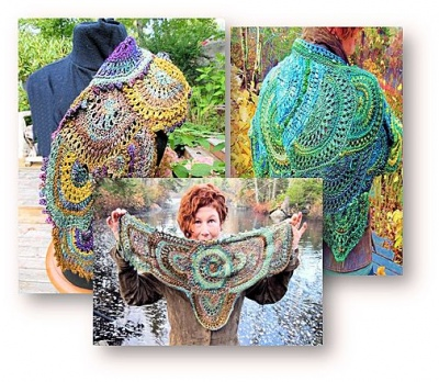 Inner Circles/ Pattern Designed by Jane Thornley - Shawls/Stoles